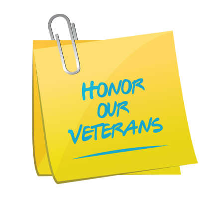memo: honor our veterans memo illustration design over a white background
