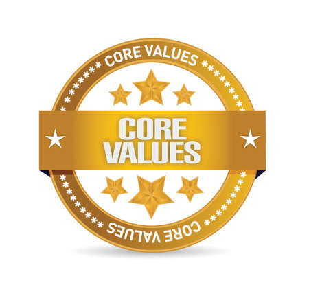 core: core values seal illustration design over a white background Illustration