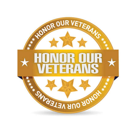 honor our veterans goal seal illustration design over a white background