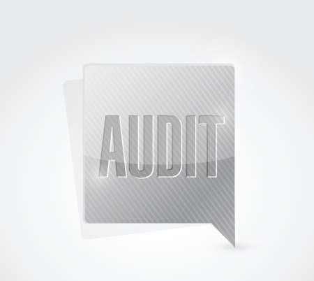audit message sign illustration design over a white background