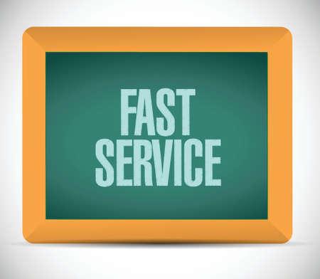 competent: fast service board sign illustration design over a white background Illustration