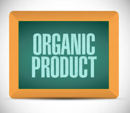 usda: organic product board sign illustration design over a white background