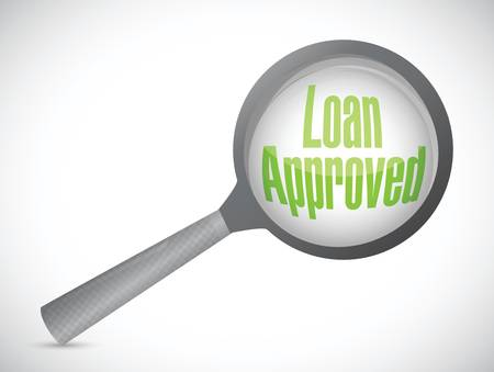 loaning: loan approved review concept illustration design over a white background