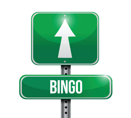 opportunity sign: bingo road sign illustration design over a white background Illustration