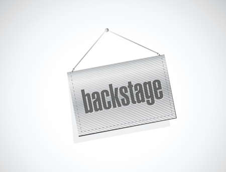 hanging banner: backstage hanging banner illustration design over a white background Illustration