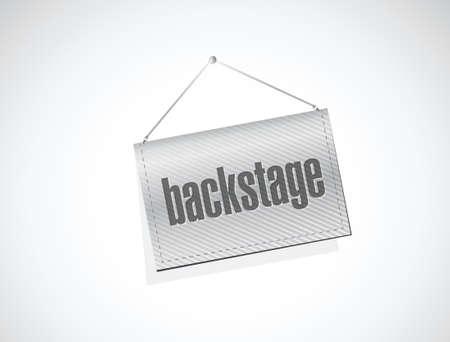 backstage hanging banner illustration design over a white background Illustration