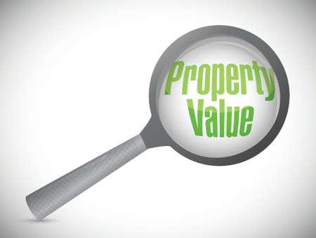 home value: property value magnify illustration design over a white background Illustration