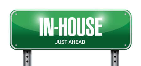 in-house road sign illustration design over a white background Vector