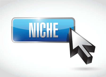 niche button illustration design over a white background