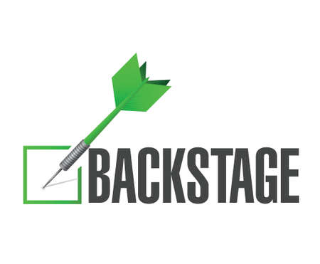 backstage: backstage check dart illustration design over a white background