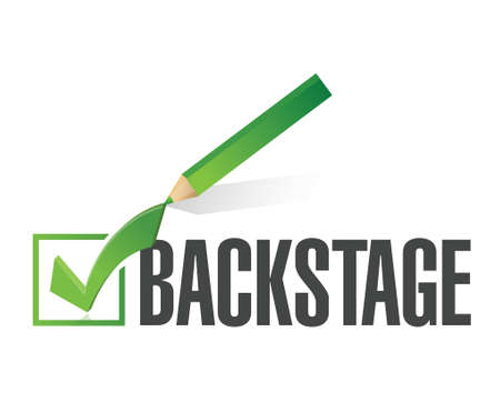 limited access: backstage check mark illustration design over a white background