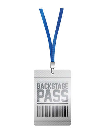 security staff: backstage pass tag illustration design over a white background
