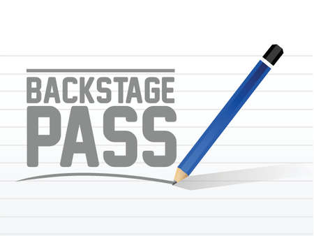 limited access: backstage pass message sign illustration design over a white background