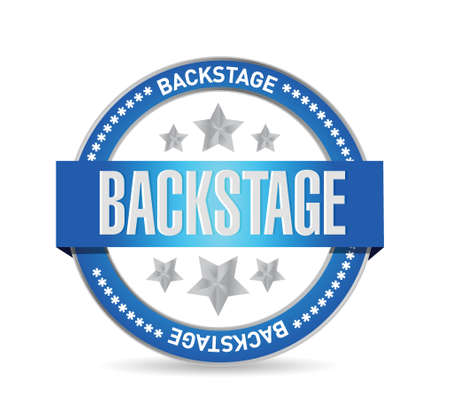 backstage: backstage seal illustration design over a white background