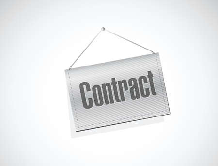 autographing: contract banner sign illustration design over a white background
