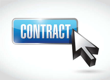 autographing: contract button illustration design over a white background Illustration