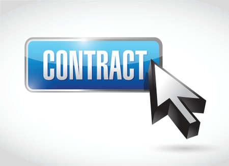 contract button illustration design over a white background Vettoriali
