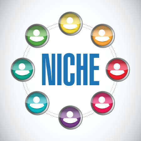 niche: niche people market concept illustration design over a white background