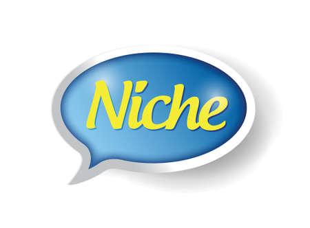 niche: niche message bubble illustration design over a white background Illustration