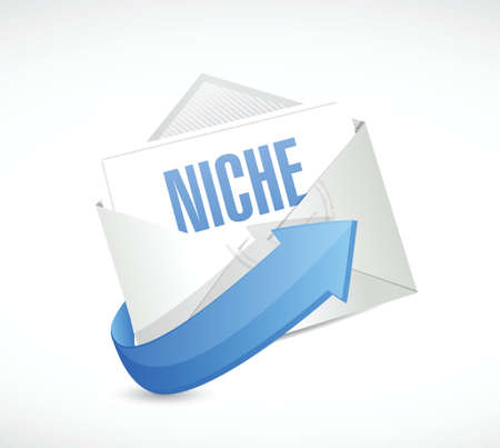 niche mail illustration design over a white background