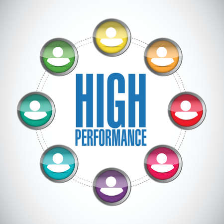 high performance: high performance people diagram illustration design over a white background Illustration