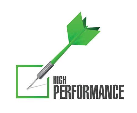 high performance check dart illustration design over a white background