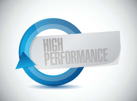high performance: high performance cycle illustration design over a white background