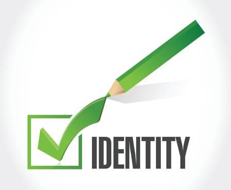 identity check mark illustration design over a white background