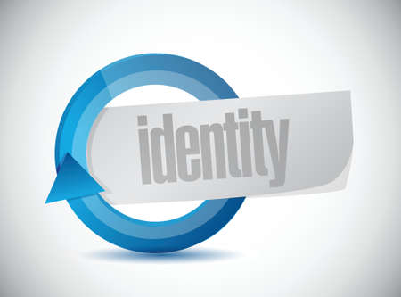 forensic: identity cycle illustration design over a white background