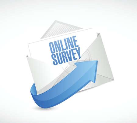 e survey: online survey mail illustration design over a white background