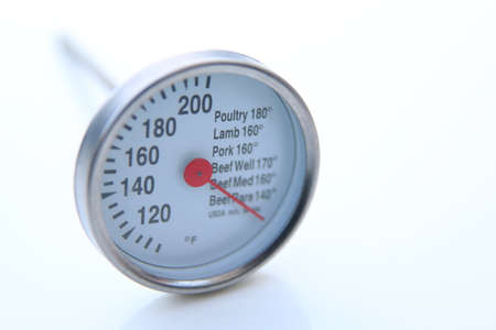 cooking thermometer isolated over a white background 版權商用圖片