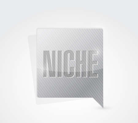 brand position: niche message sign illustration design over a white background Stock Photo