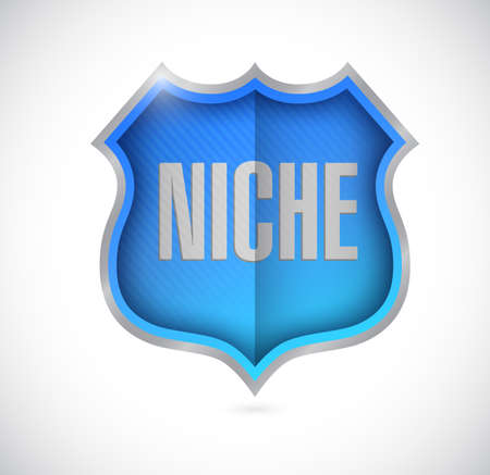 niche: niche shield illustration design over a white background