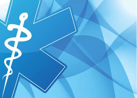simbolo medicina: símbolo de la medicina, ilustración, diseño sobre un azul sale del fondo Vectores