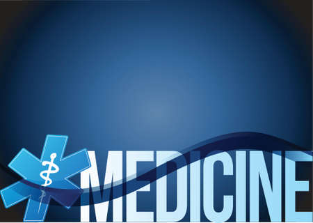 acute: medicine sign wave illustration design over a blue background