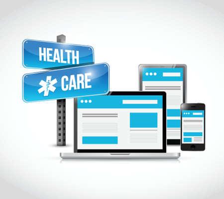 Gesundheitstechnik Elektronik, Illustration, Design über einem weißen Hintergrund Standard-Bild - 37039510