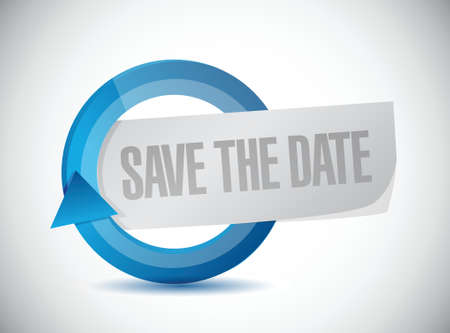 adviser: save the date cycle illustration design over a white background Illustration