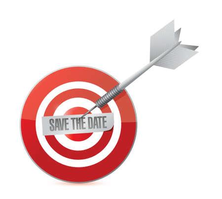 save the date target illustration design over a white background Stok Fotoğraf - 37039752
