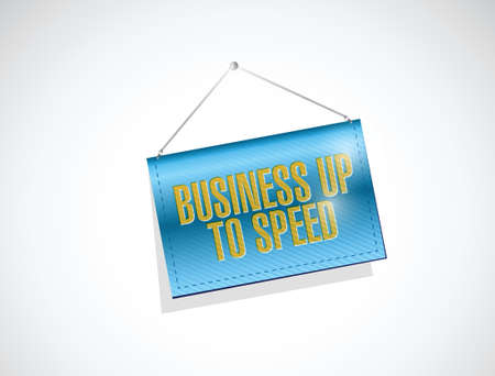 money sphere: business up to speed banner sign illustration design over a white background Illustration