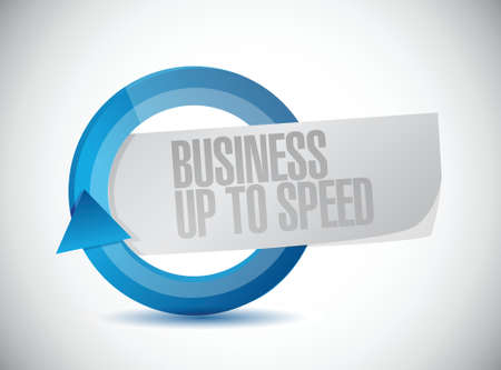 money sphere: business up to speed cycle sign illustration design over a white background Illustration