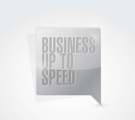 upcoming: business up to speed message sign illustration design over a white background Stock Photo