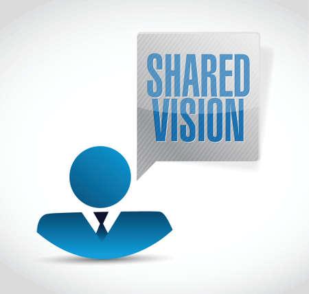 shared vision people sign illustration design over a white background