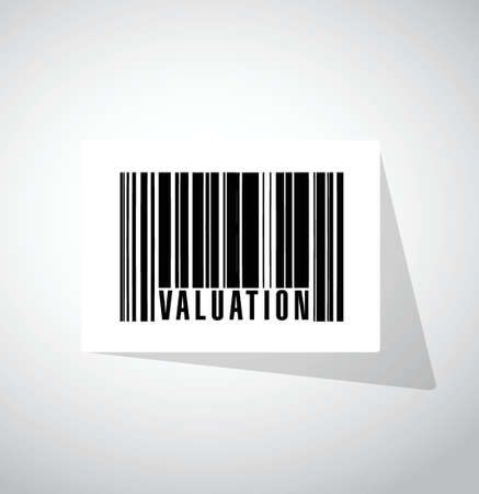 valuation: valuation barcode illustration design over a white background