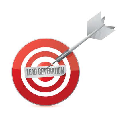 lead generation target illustration design over a white background Stock Illustratie
