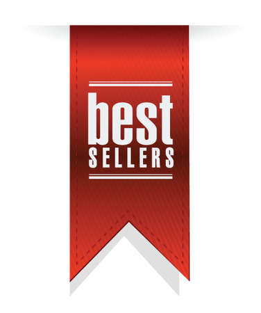 best sellers banner sign illustration design over white background 向量圖像