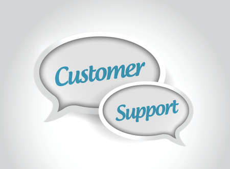 customer service phone: customer support message bubbles illustration design over white background Illustration