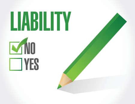 liability: no liability check mark illustration design over a white background Illustration