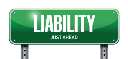 literate: liability road sign illustration design over a white background Illustration