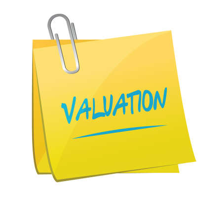 post it note: valuation memo post illustration design over a white background
