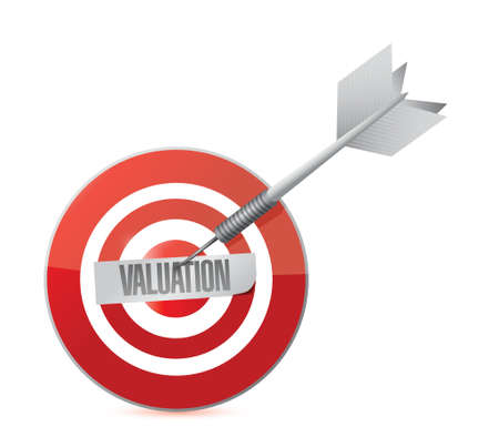 valuation: valuation target illustration design over a white background Illustration
